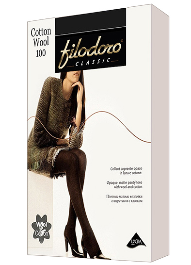Колготки FILODORO Cotton Wool 100 XL | Coffee